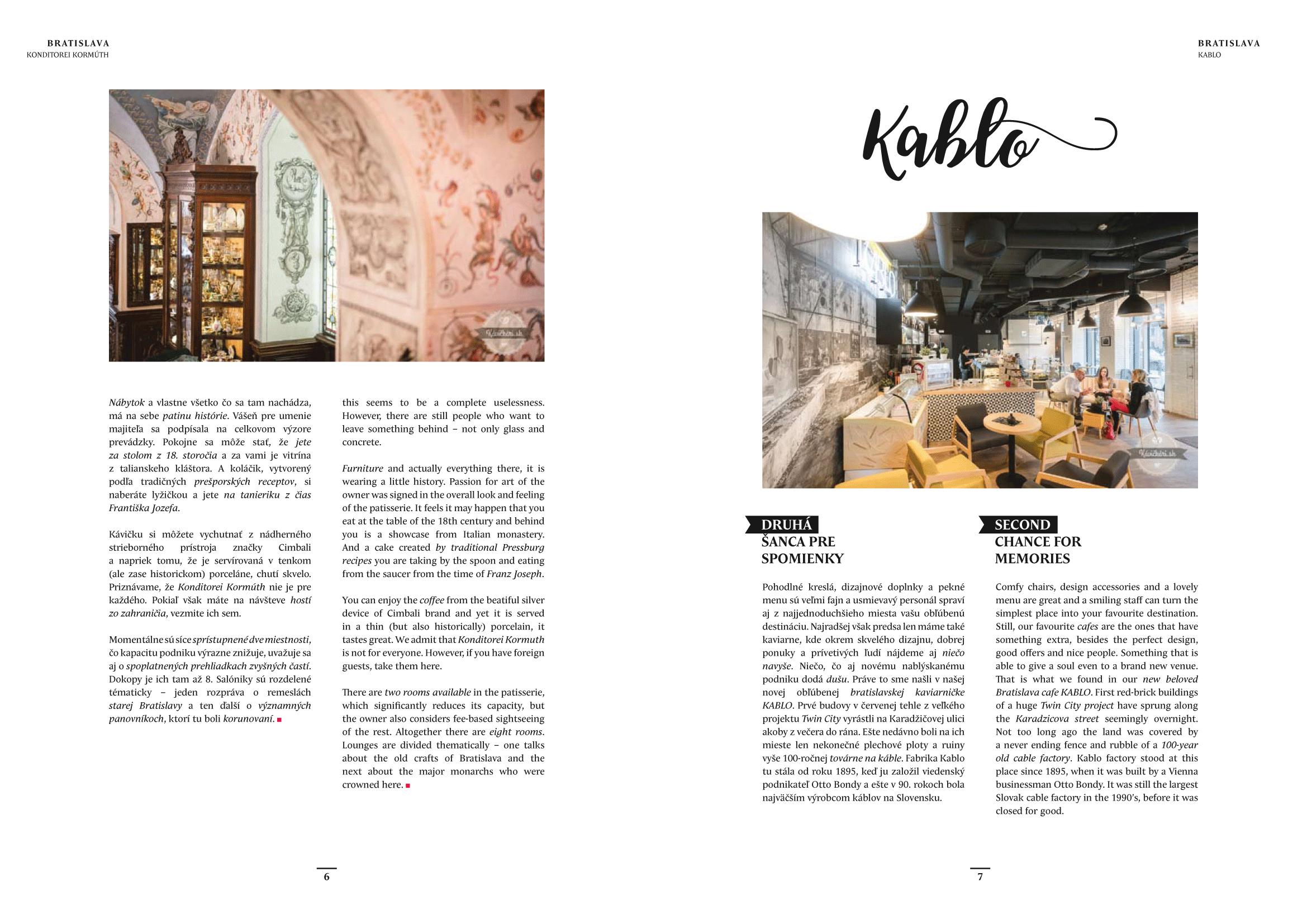 kavickari.sk, navrh layoutu