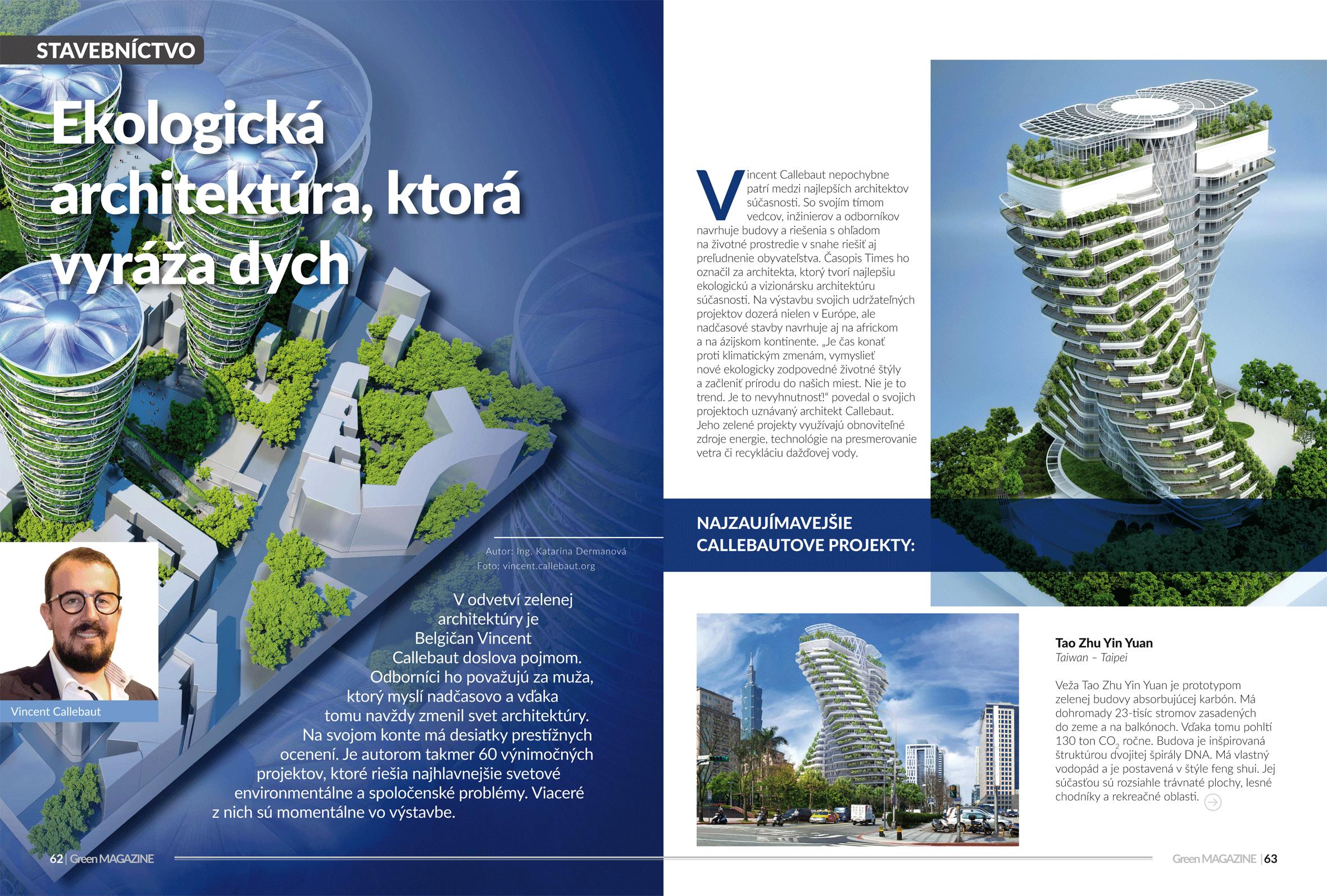 Vincent Callebaut, ekologická architektúra