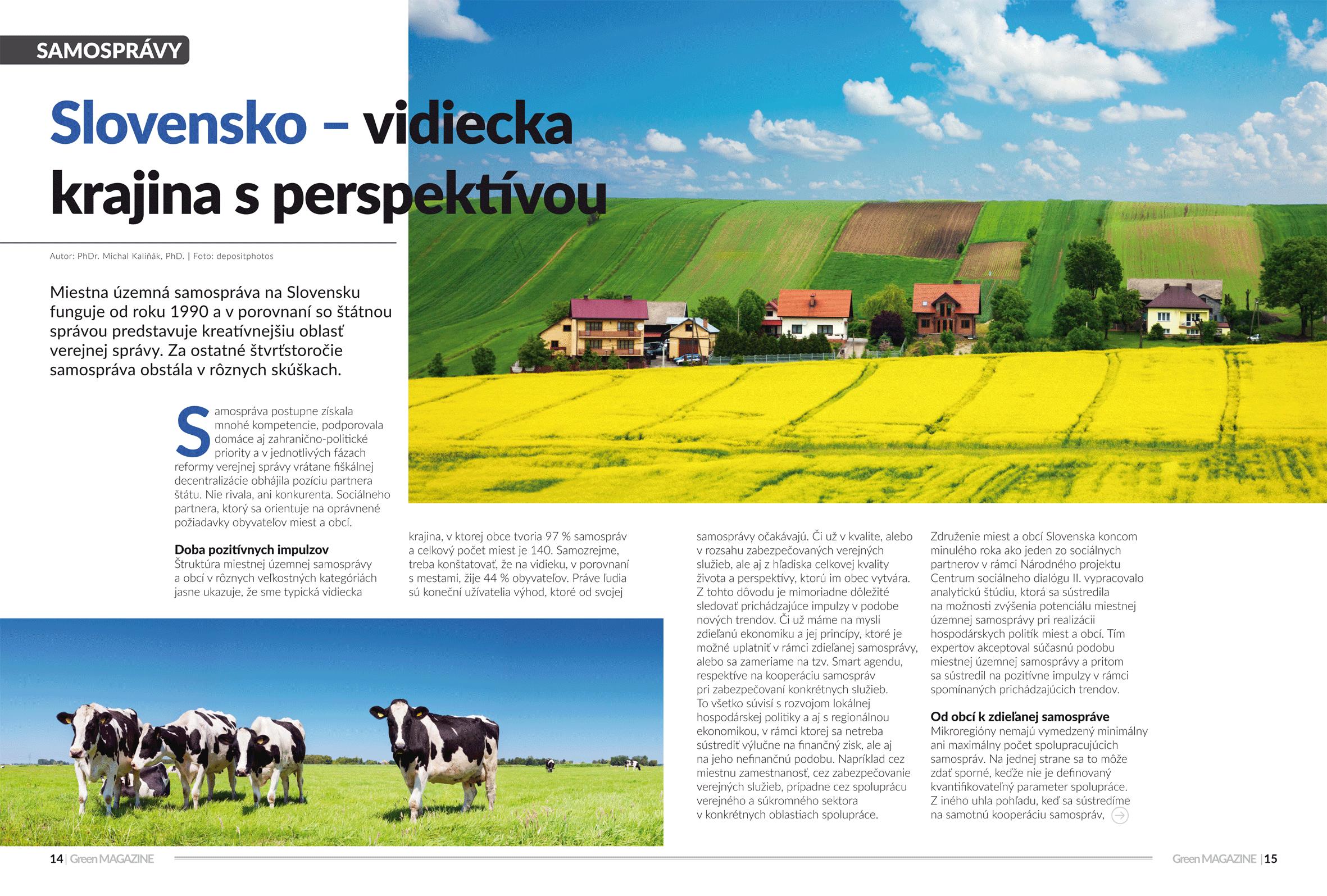 Slovensko - vidiecka krajina s perspektívou